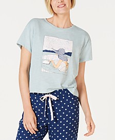 Jenni Graphic-Print Pajama Shirt, Created for Macy's