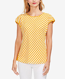 Vince Camuto Combo-Print Top