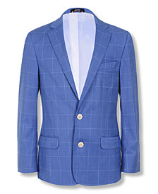 Tommy Hilfiger Big Boys Stretch Windowpane Suit Jacket