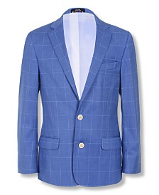 Tommy Hilfiger Big Boys Stretch Windowpane Suit Jacket