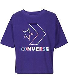 Converse Big Girls Logo-Print Cotton T-Shirt