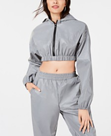 Waisted Cropped Reflective Jacket