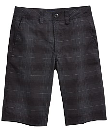 Univibe Big Boys Signature Plaid Cotton Shorts