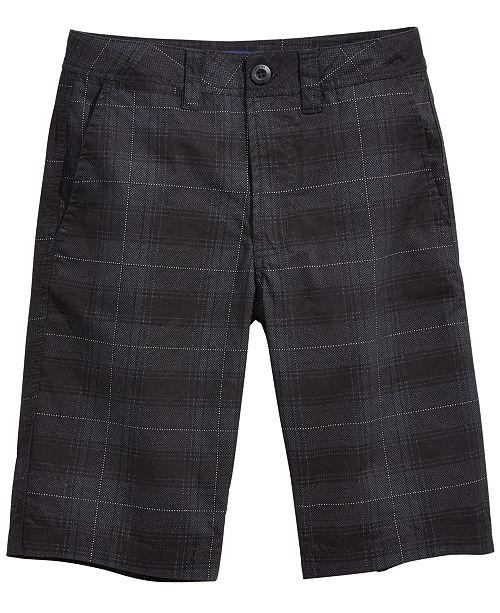 Univibe Big Boys Signature Plaid Cotton Shorts