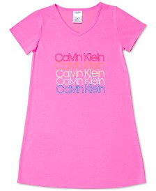 Calvin Klein Big Girls Logo-Print Nightgown