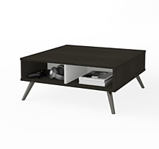 "Small Space Krom 29.5"" Storage Coffee Table"