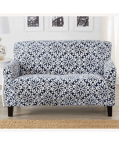 Magnificent Velvet Plush Printed Form Fit Stretch Loveseat Slipcover Unemploymentrelief Wooden Chair Designs For Living Room Unemploymentrelieforg