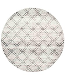Safavieh Adirondack Silver and Charcoal 4' x 4' Round Area Rug