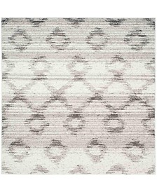 Safavieh Adirondack Silver and Charcoal 4' x 4' Square Area Rug