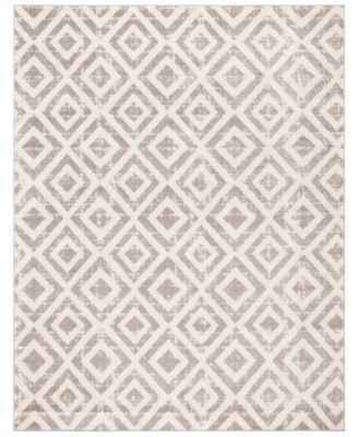 Amsterdam Ivory and Mauve 9' x 12' Sisal Weave Area Rug