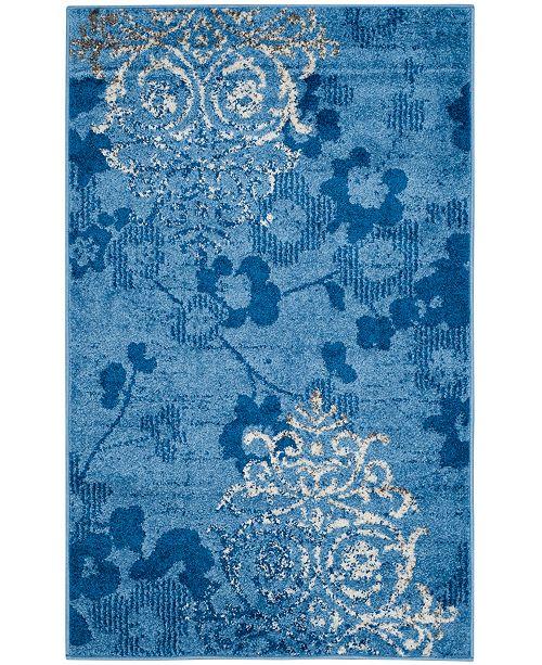 Safavieh Adirondack Light Blue and Dark Blue 3' x 5' Area Rug