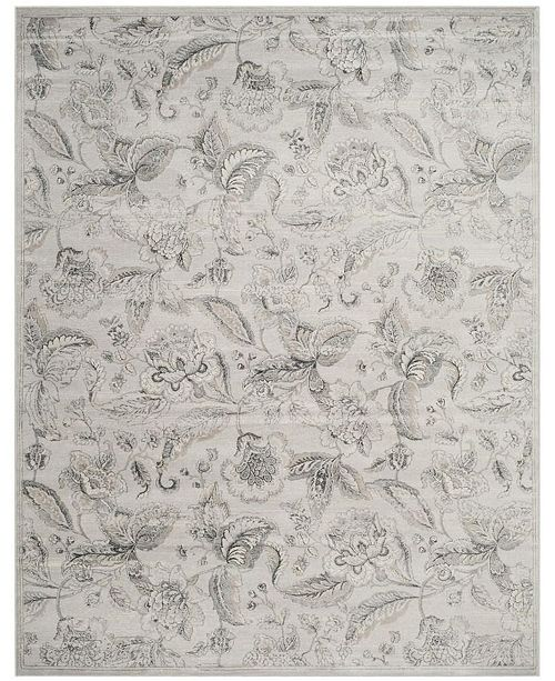 Safavieh Carnegie Silver and Gray 9' x 12' Area Rug