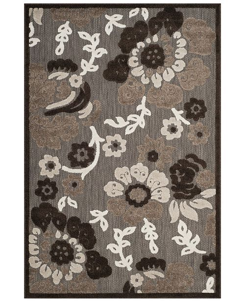 """Safavieh Cottage Light Brown and Brown 6'7"""" x 9'6"""" Area Rug"""