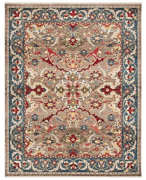 Safavieh Kashan Taupe and Blue 9' x 12' Sisal Weave Area Rug