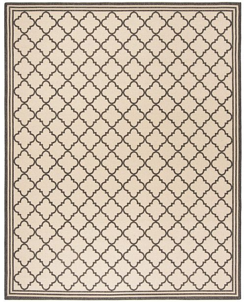 Safavieh Linden Creme and Black 9' x 12' Area Rug