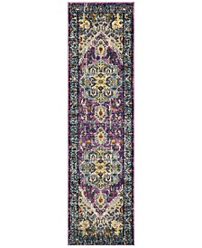 "Monaco Violet and Light Blue 2'2"" x 12' Runner Area Rug"