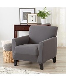 Form Fit, Slip Resistant, Strapless Jersey Knit Chair Slipcover