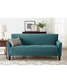 Form Fit, Slip Resistant, Strapless Jersey Knit Sofa Slipcover
