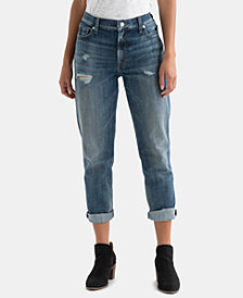 Lucky Brand Distressed Rolled-Cuff Boyfriend Jeans
