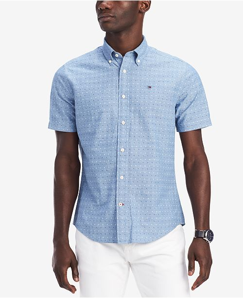 d7068bac ... Tommy Hilfiger Men's Johnston Geo-Print Shirt, Created for Macy's ...