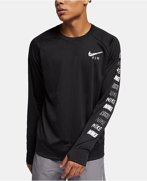 Nike Men's Pacer Dri FIT Long Sleeve Running T Shirt