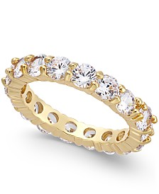 Charter Club Gold-Tone Crystal Anniversary Band Ring, Created for Macy's