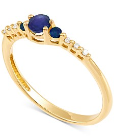 Sapphire (3/8 ct. t.w.) & Diamond Accent Ring in 14k Gold