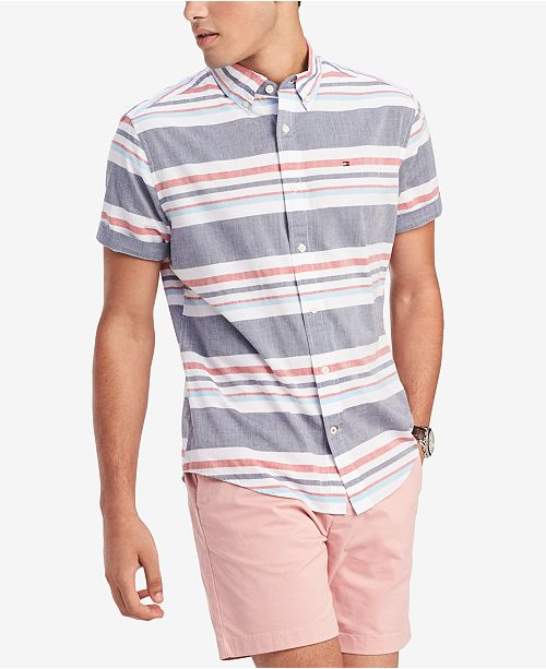 Tommy Hilfiger Men's Stripe Shirt, Created for Macy's
