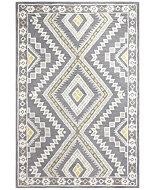 "CLOSEOUT! Alistar ALI-277 Grey 2'6"" x 8' Runner Area Rug"