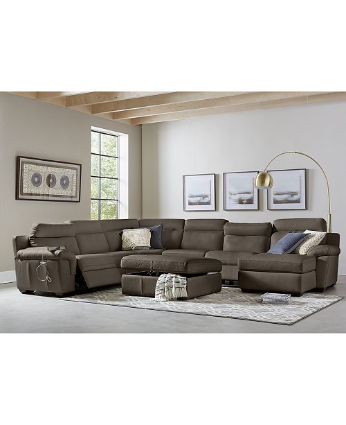 Tremendous Julius Ii Leather Power Reclining Sectional Sofa Collection With Power Headrests And Usb Power Outlet Created For Macys Gmtry Best Dining Table And Chair Ideas Images Gmtryco