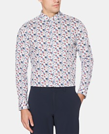 Perry Ellis Men's Micro-Floral Graphic Shirt