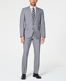 Billy London Men's Slim-Fit Performance Stretch Light Gray Suit
