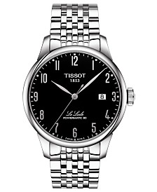 Tissot Men's Swiss Automatic T-Classic Le Locle Stainless Steel Bracelet Watch 39.3mm