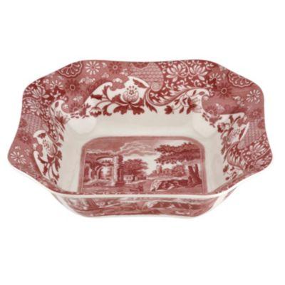 Cranberry Italian Square Serving Bowl