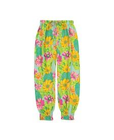 Masala Baby Girls Raga Pants Cactus Floral