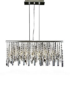 Modern 5-Light Linear Chrome Chandelier