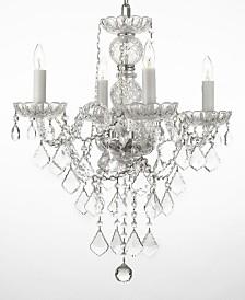 Venetian Style Empress 4-Light Crystal Chandelier