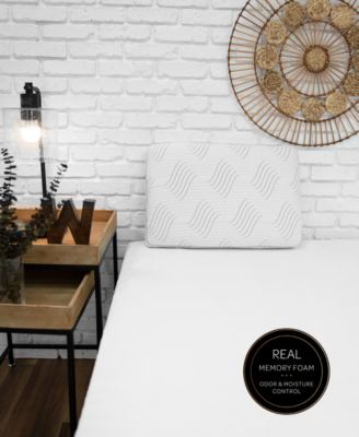 Charcoal Memory Foam Pillow with Built-In iCOOL Technology System, Created for Macy's