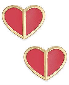 kate spade new york Gold-Tone Heart Stud Earrings