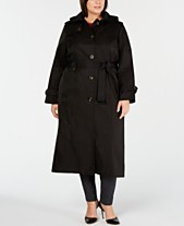 f04126c58d0 London Fog Plus Size Single-Breasted Trench Coat
