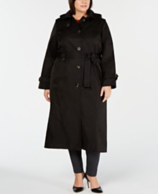 b3db950e253 London Fog Plus Size Single-Breasted Trench Coat