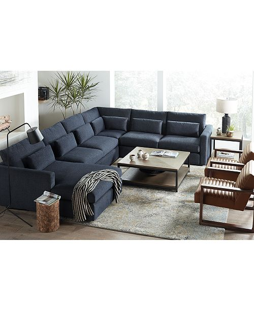 Canillo Fabric Sectional Sofa Collection, Created for Macy\'s