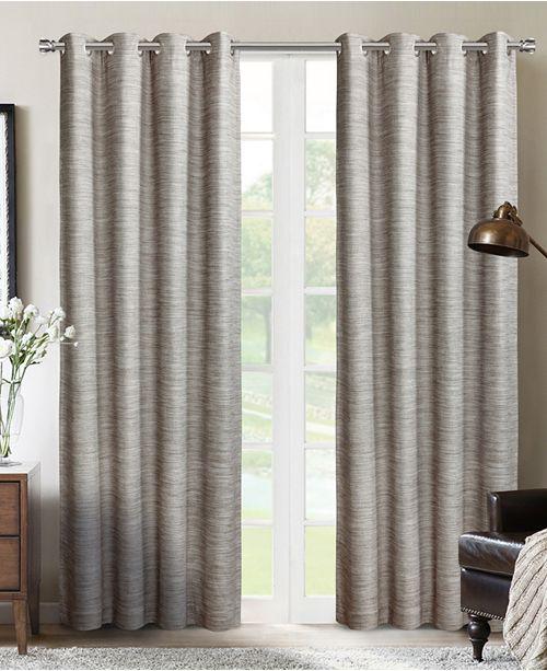 "Silk Home Living Sun+Block Blackout Grommet Curtain Panel Pair 52""x84"""