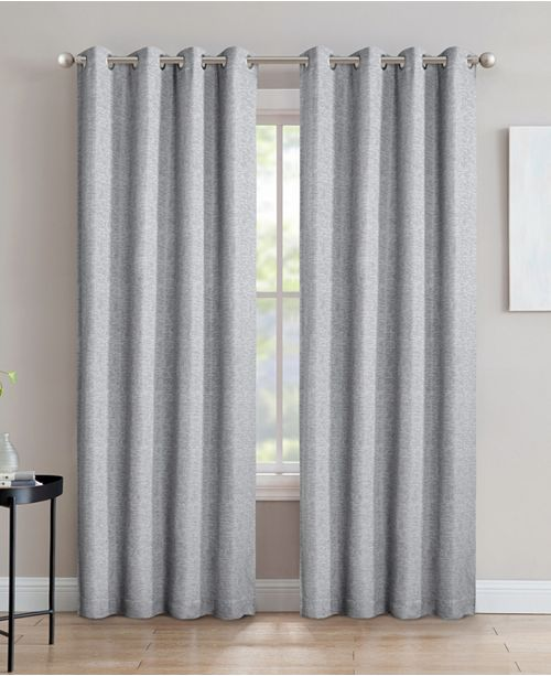 """Silk Home Living Crescent Double Layer Total Blackout Grommet Single Curtain Panel 52""""x84"""""""