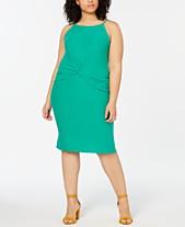 fd7a1abb293 Planet Gold Trendy Plus Size Twist-Front Halter Dress
