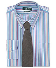 Men's Classic Fit Striped Dress Shirt