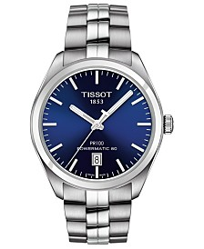 Tissot Men's Swiss Automatic T-Classic PR 100 Stainless Steel Bracelet Watch 39mm
