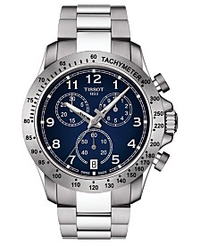 Tissot Men's Swiss Chronograph T-Sport V8 Stainless Steel Bracelet Watch 42.5mm