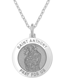 "St. Anthony Medallion 18"" Pendant Necklace in Sterling Silver"