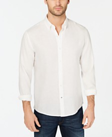 Michael Kors Men's Cross-Dyed Linen Shirt